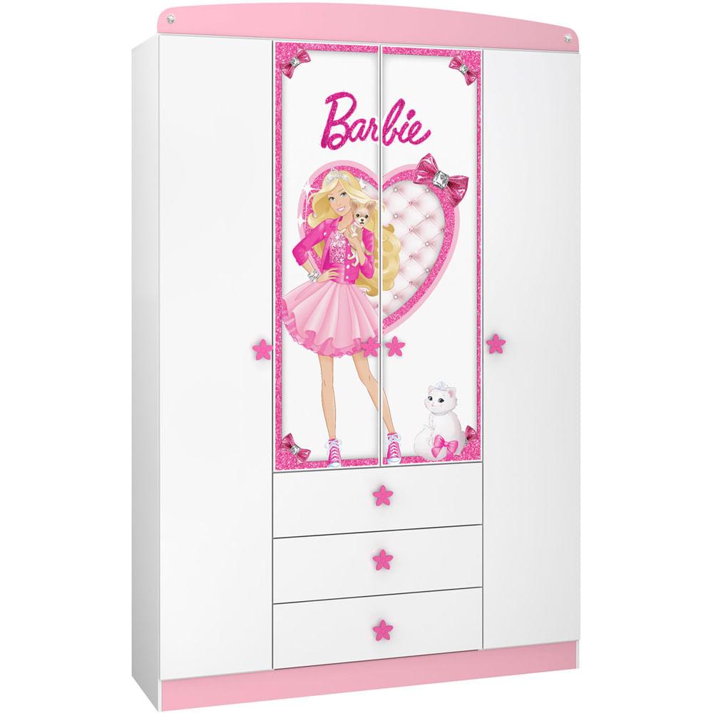 ca7041f465 Guarda-Roupa Infantil Barbie Star 4 Ptas 3 Gvtas Pura Magia - Pura Magia